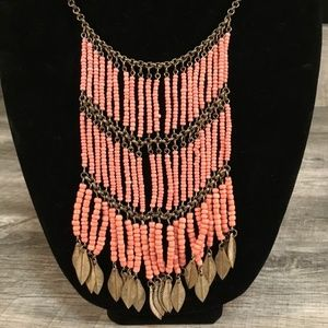 Jewelry - Peach Colored Large Hanging Necklace